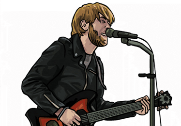 black keys dessin rock