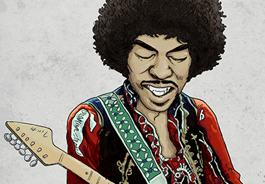 illustration jimi hendrix