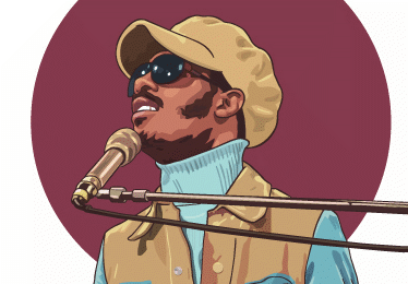 portrait stevie wonder