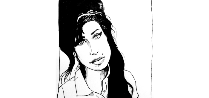 portrait amy winehouse